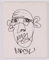 Macklemore Signed 11x14 Hand-Drawn Sketch on Canvas (JSA Hologram) at PristineAuction.com