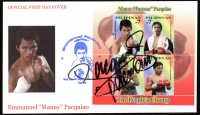 """Manny Pacquiao Signed First Day Cover Envelope Inscribed """"Pacman"""" (Pacquiao COA) at PristineAuction.com"""