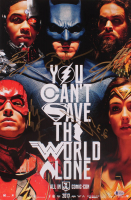 """""""Justice League"""" 13x20 Photo Signed By (5) With Ben Affleck, Gal Gadot, Jason Mamoa, Ezra Miller (Beckett LOA) at PristineAuction.com"""