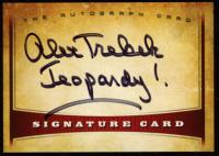 "Alex Trebek Signed 2016 Signature Card #AC01 Inscribed ""Jeopardy!"" (JSA COA) at PristineAuction.com"