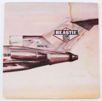 "Michael ""Mike D"" Diamond, Adam ""MCA"" Yauch & Adam ""Ad-Rock"" Horovitz Signed Beastie Boys ""Licensed to Ill"" Vinyl Record Album Cover (Beckett LOA) at PristineAuction.com"