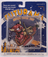 "Matt Groening Signed ""Futurama"" Robot Devil Metal Click Toy With Hand-Drawn Sketch Inscribed ""2002"" (Beckett COA) at PristineAuction.com"