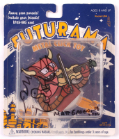 """Matt Groening Signed """"Futurama"""" Robot Devil Metal Click Toy With Hand-Drawn Sketch Inscribed """"2002"""" (Beckett COA) at PristineAuction.com"""
