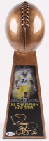 """Jerome Bettis Signed 15"""" Football Championship Trophy (Beckett COA) at PristineAuction.com"""