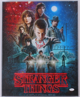 """Millie Bobby Brown Signed """"Stranger Things"""" 16x20 Photo on Canvas (JSA COA) at PristineAuction.com"""