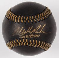 "Austin Meadows Signed OML Black Leather Baseball Inscribed ""2013 1ST RD"" (JSA Hologram) at PristineAuction.com"