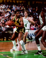 Adrian Dantley Signed Jazz 8x10 Photo (Playball Ink Hologram) at PristineAuction.com