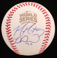 Mike Montgomery & Miguel Montero Signed 2016 World Series Baseball (Beckett COA) at PristineAuction.com