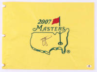 Zach Johnson Signed 2007 The Masters Golf Pin Flag (Beckett COA) at PristineAuction.com