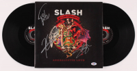 "Slash, Myles Kennedy, & Brent Fitz Signed ""Apocalyptic Love"" Vinyl Record Album (PSA LOA) at PristineAuction.com"