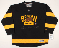 Brad Marchand, Patrice Bergeron & David Pastrnak Signed Bruins Jersey (The Perfection Line COA) at PristineAuction.com