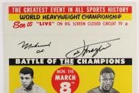 Muhammad Ali & Joe Frazier Signed 14x22 Poster (JSA ALOA) at PristineAuction.com