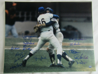 1969 Mets 16x20 Photo Team-Signed by (14) with Jerry Koosman, Jack DiLauro, Ed Kranepool, Jim Gosger, Al Weis, Ron Taylor (JPS Hologram) at PristineAuction.com