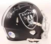 Daryle Lamonica Signed Raiders Blaze Speed Mini Helmet (Pro Player Hologram) at PristineAuction.com