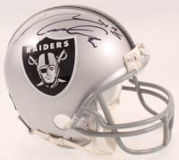 Maxx Crosby Signed Raiders Mini Helmet (Pro Player Hologram) at PristineAuction.com