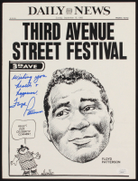 "Floyd Patterson Signed 11x14.5 Poster Inscribed ""Wishing You Health & Happiness"" (JSA COA) at PristineAuction.com"