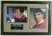 "William Shatner & Leonard Nimoy Signed ""Star Trek"" 16x24 Custom Framed Photo Display (JSA COA) at PristineAuction.com"