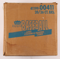1990 Fleer Baseball Card Wax Case with (20) Boxes at PristineAuction.com