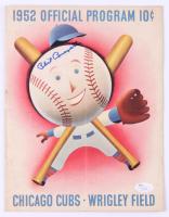 Phil Cavarretta Signed Vintage 1952 Cubs Program (JSA Hologram) at PristineAuction.com