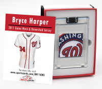 BRYCE HARPER 2011 GAME-WORN NATIONALS JERSEY MYSTERY SWATCH BOX! at PristineAuction.com