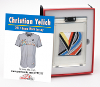 CHRISTIAN YELICH 2017 MARLINS GAME WORN JERSEY MYSTERY SWATCH BOX! at PristineAuction.com