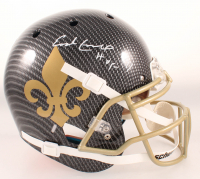 """Earl Campbell Signed Saints Full-Size Authentic On-Field Hydro-Dipped Helmet Inscribed """"HOF 91"""" (Beckett COA) at PristineAuction.com"""
