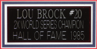 Lou Brock Signed 35x43 Custom Framed Jersey (JSA COA) at PristineAuction.com