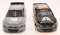Lot of (2) Dale Earnhardt Jr. LE #88 Axalta Duck's Unlimited & Nationwide Insurance 2017 & 2016 SS 1:24 Scale Stock Cars at PristineAuction.com