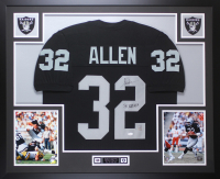 Marcus Allen Signed 35x43 Custom Framed Jersey (JSA COA) at PristineAuction.com