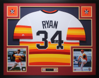 Nolan Ryan Signed Astros 35x43 Custom Framed Jersey (Beckett COA) at PristineAuction.com