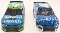 Lot of (2) Kyle Larson LE #42 Advent Health All-Star Race Win 2019 Camaro ZL1 Elite & Signed LE #42 Credit One Bank 2019 Camaro ZL1 Autographed Color Chrome 1:24 Scale Stock Cars (RCCA COA) at PristineAuction.com