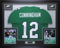 Randall Cunningham Signed 35x43 Custom Framed Jersey (JSA COA) at PristineAuction.com