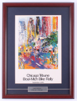 "LeRoy Neiman ""Chicago Trubune Boul-Mich Bike Rally"" 16.5x22 Custom Framed Print Display at PristineAuction.com"