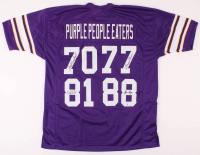 """Purple People Eaters"" Jersey Signed by (4) with Alan Page, Gary Larsen, Carl Eller & Jim Marshall (Beckett COA) at PristineAuction.com"