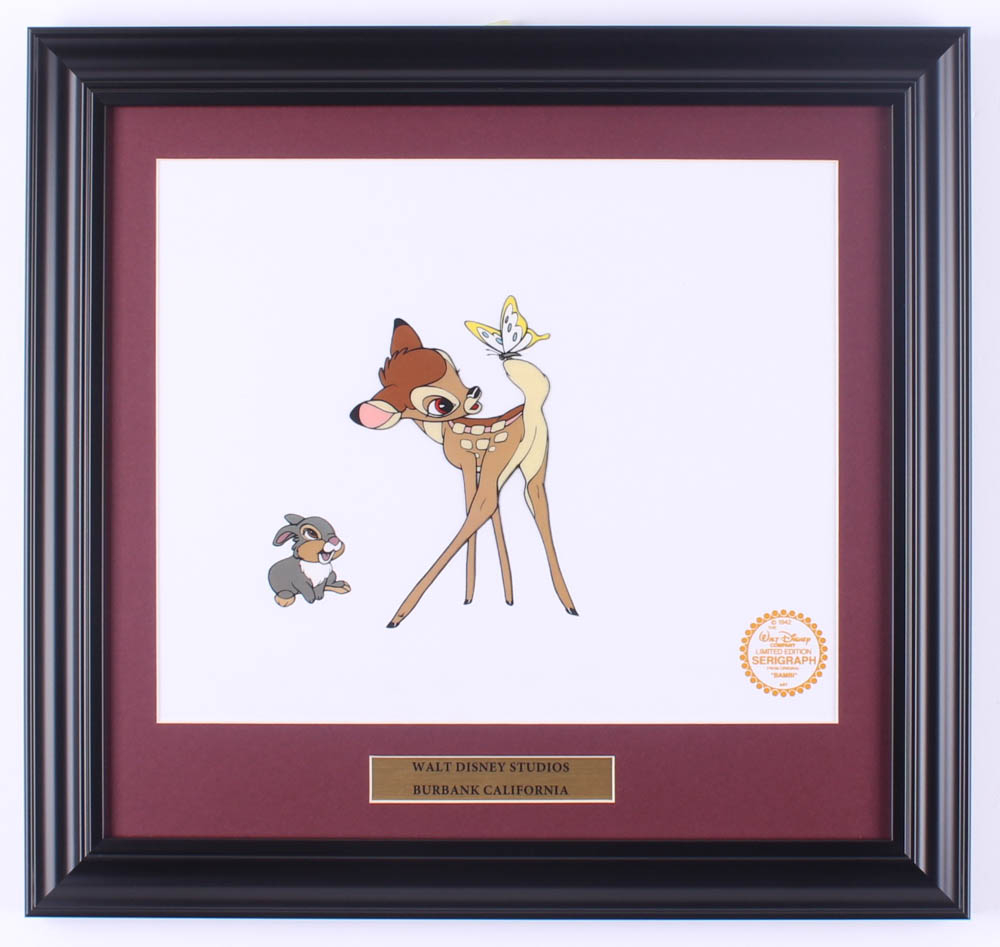 "Walt Disney's ""Bambi"" 15.5x16.5 Custom Framed Animation Serigraph Cel Display at PristineAuction.com"