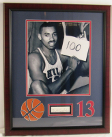 CWilt Chamberlain 76ers 18x22 Custom Framed Cut Display (JSA COA) at PristineAuction.com