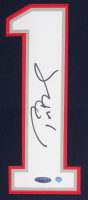 Tom Brady Signed Patriots 35x43 Custom Framed Jersey (Steiner COA) at PristineAuction.com
