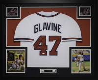 Tom Glavine Signed 35x43 Custom Framed Jersey (JSA COA) at PristineAuction.com