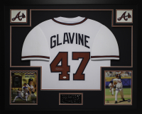 Tom Glavine Signed 35x43 Custom Framed Jersey (JSA COA) at PristineAuction.com