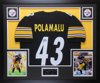 Troy Polamalu Signed 35x43 Custom Framed Jersey (JSA COA) at PristineAuction.com
