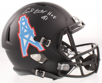 """Earl Campbell Signed Oilers Full-Size Matte Black Speed Helmet Inscribed """"HOF 91"""" (Beckett COA) at PristineAuction.com"""