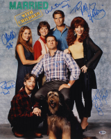 """""""Maried With Children"""" 16x20 Photo Signed by (6) With Ed O'Neill, Katey Sagal, David Faustino, Christina Applegate With (6) inscriptions (Beckett LOA) at PristineAuction.com"""