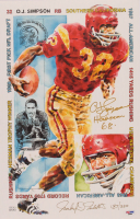"O.J. Simpson Signed LE 11x17 USC Lithograph Inscribed ""Heisman 68"" (PSA COA) at PristineAuction.com"