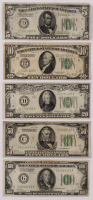 Lot of (5) 1928 U.S. Federal Reserve Notes with $100, $50, $20, $10, & $5 at PristineAuction.com