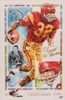 "O.J. Simpson Signed LE 11x17 USC Lithograph Inscribed ""Heisman 68"" (PSA COA) at PristineAuction.com"