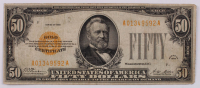 1928 $50 Fifty-Dollar U.S. Gold Certificate Bank Note at PristineAuction.com