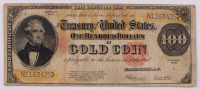 1922 $100 One-Hundred Dollar U.S. Gold Certificate Large-Size Bank Note at PristineAuction.com