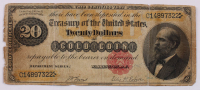 1882 $20 Twenty-Dollar U.S. Gold Certificate Large-Size Bank Note at PristineAuction.com
