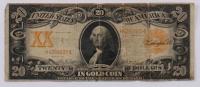1906 $20 Twenty-Dollar U.S. Gold Certificate Large-Size Bank Note at PristineAuction.com