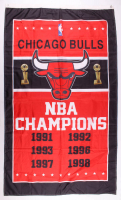 Bulls NBA Champions 36x60 Banner at PristineAuction.com